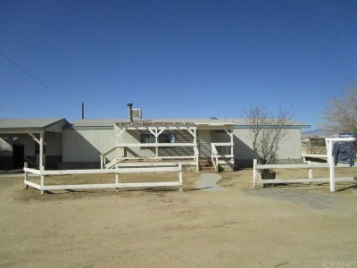 Rosamond Single Family Home For Sale: 2401 46th Street West