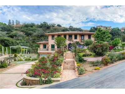 Malibu Single Family Home For Sale: 28305 Via Acero Street
