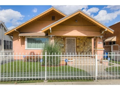 Los Angeles Single Family Home For Sale: 1627 West 38th Street