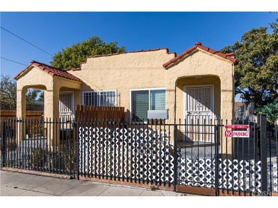 Los Angeles Single Family Home For Sale: 2251 East 105th Street