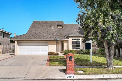 Chatsworth Single Family Home For Sale: 20615 Merridy Street