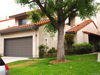 Porter Ranch Condo/Townhouse For Sale: 19229 Index Street #3