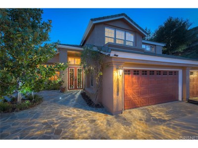 Agoura Hills Single Family Home For Sale: 3821 Parkview Court