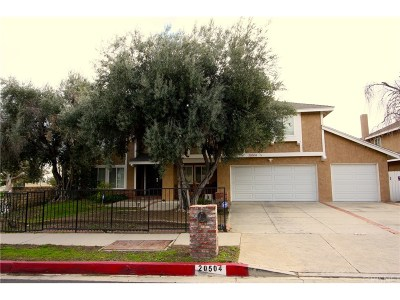 Chatsworth Single Family Home For Sale: 20504 San Jose Street