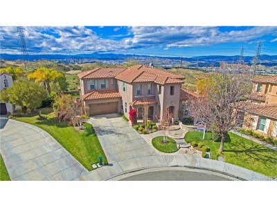 Valencia CA Single Family Home For Sale: $1,275,000