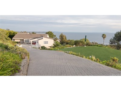 Malibu Single Family Home For Sale: 32700 Vista De Los Ondas Street
