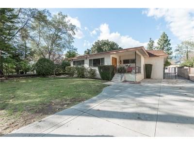 Glendale Single Family Home For Sale: 1729 Del Valle Avenue