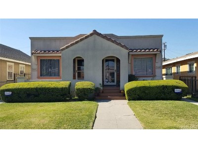 Los Angeles Single Family Home For Sale: 5303 South Manhattan Place