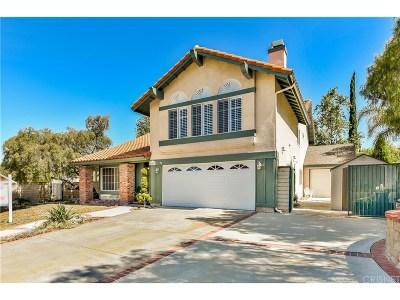 Saugus Single Family Home For Sale: 20467 Samual Drive