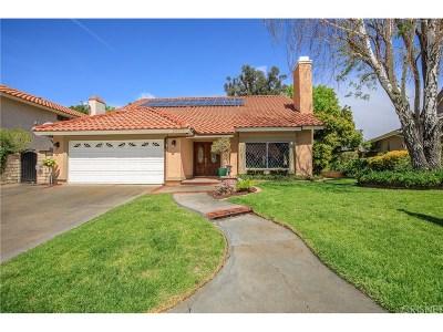 Saugus Single Family Home For Sale: 20833 Marshall Way