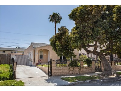 Los Angeles Single Family Home For Sale: 1918 West 71st Street