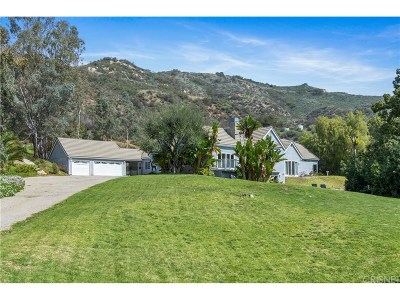 Calabasas Single Family Home For Sale: 2069 Cold Canyon Road