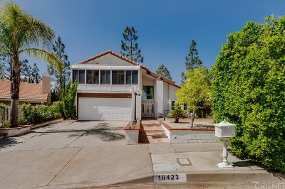 Northridge Single Family Home For Sale: 18423 Tuba Street