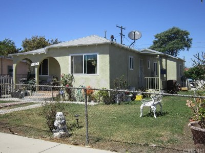 Compton Single Family Home For Sale: 1703 West 153rd Street