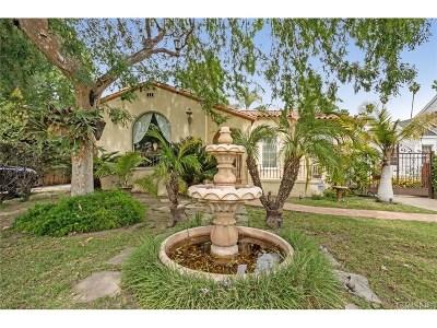 Toluca Lake Single Family Home For Sale: 11019 Hortense Street