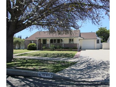 Northridge Single Family Home For Sale: 17602 Blythe Street