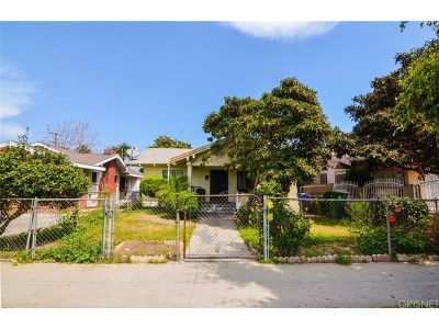 Los Angeles Single Family Home For Sale: 1333 West 59th Street