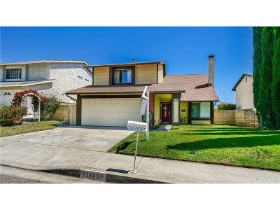 Saugus Single Family Home For Sale: 21849 Centurion Way