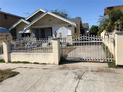 Los Angeles Single Family Home For Sale: 1847 West 48th Street