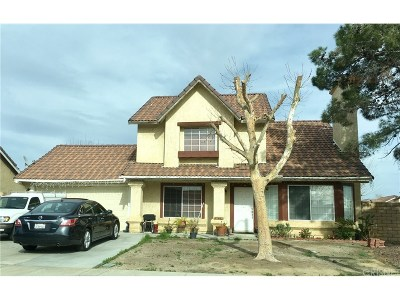 Palmdale Single Family Home For Sale: 37466 Hudson Street
