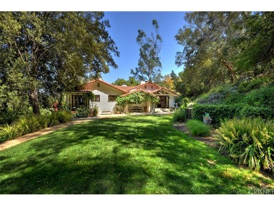 Studio City Single Family Home Active Under Contract: 3665 Woodhill Canyon Road