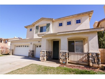 Palmdale Single Family Home For Sale: 39312 Chantilly Lane