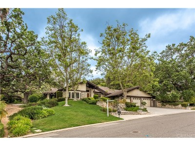 Westlake Village Single Family Home For Sale: 1591 Upper Ranch Road