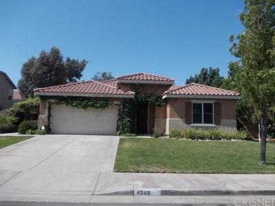 Quartz Hill Single Family Home For Sale: 4349 Elena Place