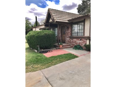 Castaic Single Family Home For Sale: 31625 Hunter Lane