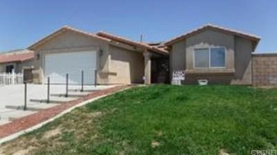 Rosamond Single Family Home For Sale: 2137 Natalie Drive