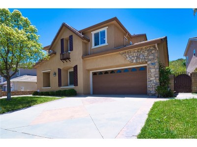 Saugus Single Family Home For Sale: 28535 Hidden Hills Drive