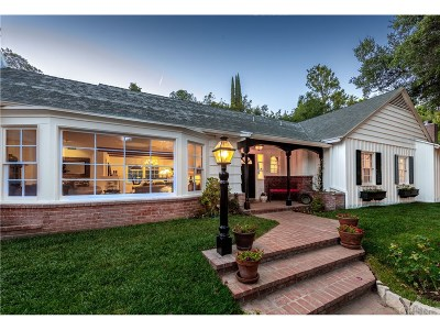 Encino Single Family Home For Sale: 4267 Mooncrest Place