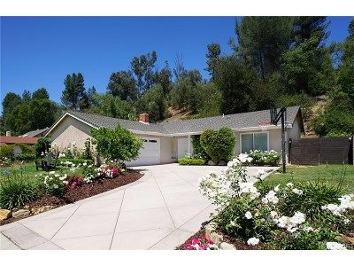 Agoura Hills Single Family Home For Sale: 3856 Patrick Henry Place