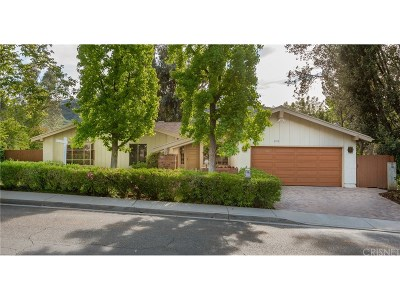 Agoura Hills Single Family Home For Sale: 3919 United Road