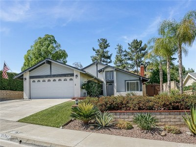 Saugus Single Family Home For Sale: 21741 Whey Drive