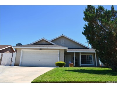 Rosamond Single Family Home For Sale: 1474 Richfield Avenue
