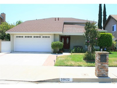 Chatsworth Single Family Home For Sale: 20622 North Vintage Street North