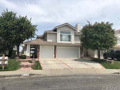 Saugus Single Family Home For Sale: 21905 Wakefield Court
