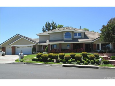Saugus Single Family Home For Sale: 21840 Parvin Drive