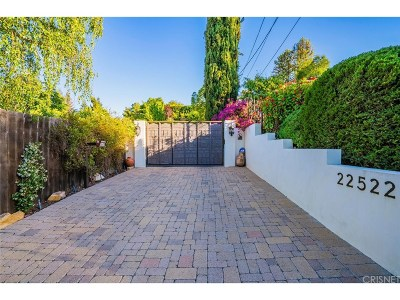 Calabasas Single Family Home Sold: 22522 Faubion Place