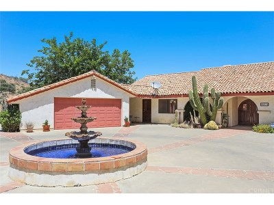 Agua Dulce Single Family Home For Sale: 35211 Glenwall Street
