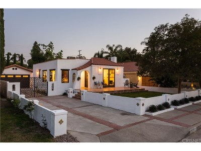 Toluca Lake Single Family Home For Sale: 11140 Hortense Street