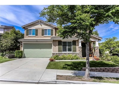 Newhall Single Family Home For Sale: 26013 Bryce Court