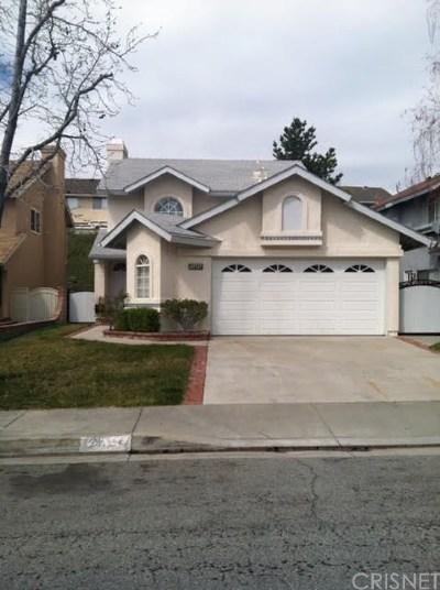 Saugus Single Family Home For Sale: 28725 Raintree Lane