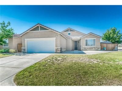 Rosamond Single Family Home For Sale: 3111 Desert Moon Avenue