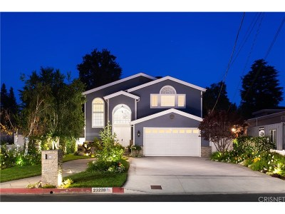 Woodland Hills Single Family Home For Sale: 23228 Canzonet Street