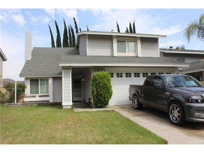 Saugus Single Family Home For Sale: 27550 Hyssop Lane