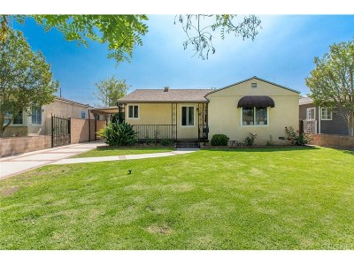 Burbank Single Family Home For Sale: 2036 North Pass Avenue