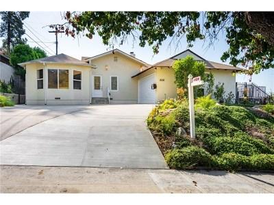 Burbank Single Family Home For Sale: 846 Groton Drive