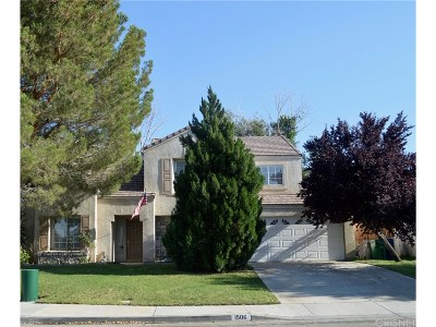 Palmdale Single Family Home For Sale: 1506 Tigertail Court